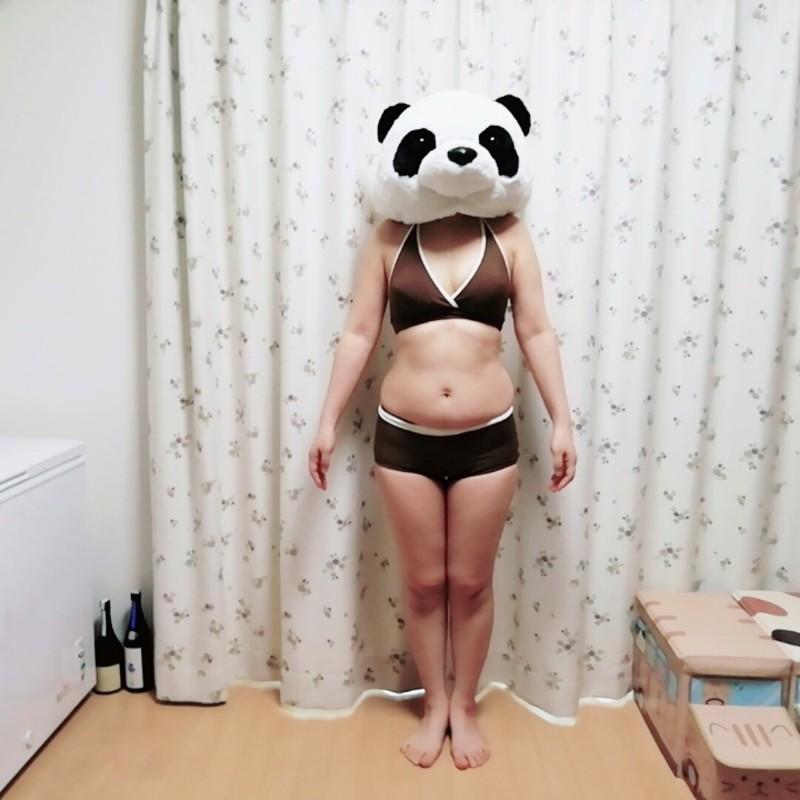 60キロ超えてる体型画像